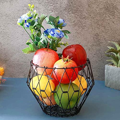 Inoxidable Frutero, Plegable Malla Frutas Cesta De Almacenamiento Decoración Mesa Comedor Caja...