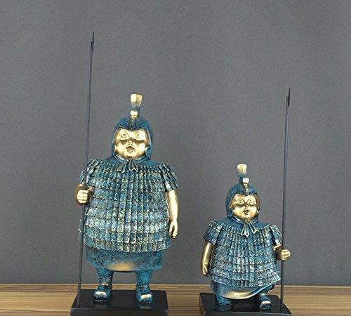 GZZ Terrakotta-Krieger Antiken Souvenirs Soldat Dekoration Dekoration Fetter Soldat Dekoration Kreatives Handwerk,Bronze,Trompete 13 * 10 * 23cm
