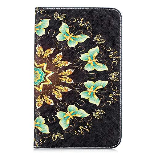 Coopay beschermhoes met 27 motieven, van PU-leer, voor tablet Samsung Galaxy Tab A 7 inch SM-T280/T285, met standfunctie, schokbestendig, beschermhoes met kaartenvakjes, POUR Samsung Galaxy Tab A 7.0 SM-T280/T285, Motief - 08