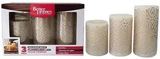 Better Homes & Gardens 3 Flameless LED Pillar Candles