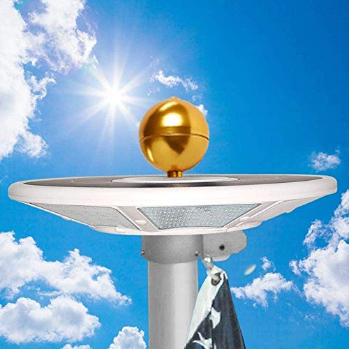 Telepole Manufacturing Inc Updated Solar Flagpole Light - 200 LED Lights with 1200 lumens and up to 10 Hours of Light (with Optional Power Charging Adapter)
