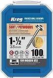Kreg SML-C150-100 Pocket Screws, 1-1/2' #8 Coarse-Thread, Washer-Head (100 Count)