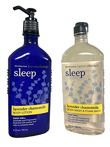 Price comparison product image Bath & Body Works,  Aromatherapy Sleep Body Lotion and Body Wash & Foam Bath,  Lavender Chamomile (Bundle of 2)