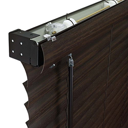 Chicology Cordless 2-Inch Vinyl Mini Blinds Light Filtering, Darkening Perfect for Kitchen/Bedroom/Living Room/Office and More, 32'W X 64'H, Dark Walnut (Commercial Grade)