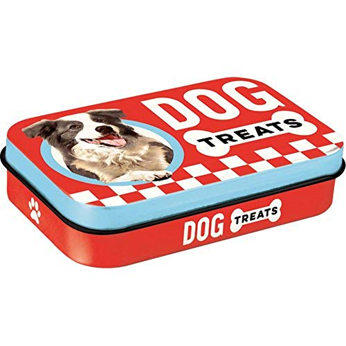 Nostalgic-Art 82206 Retro Leckerli-Dose Dog Treats – Geschenk-Idee für Hunde-Besitzer, Blech-Box für unterwegs, Vintage-Design