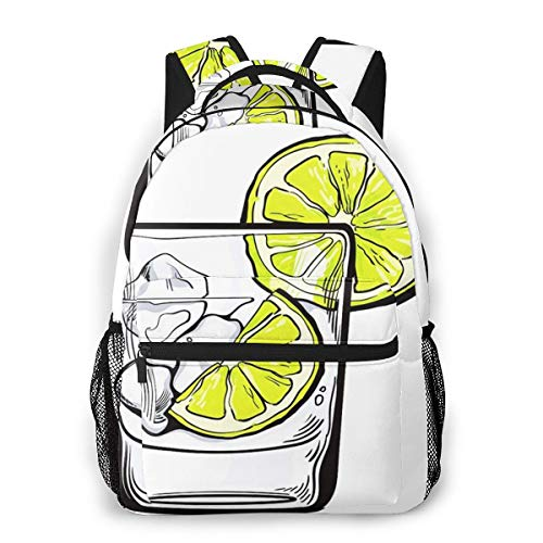 School Backpack for Boys Girls, Glass Soda Water Laptop Backpack College Bags Daypack for Men Women Student
