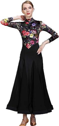 CPDZ Robes Latines au Royaume-Uni en Latin Robe de Danse Habiller pour Les Filles Floral Top Manches Longues rétro Style 2019 Nouveau Style Filles Robes de Ballet XL XXL,XL