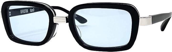 EFFECTOR サングラス 伊達眼鏡 メガネ Gm7-BK-BL 【日本製】 ブラック メンズ レディース ファッション おしゃれ シンプル めがね工房ハトヤ オリジナルメガネ拭き付【正規品】