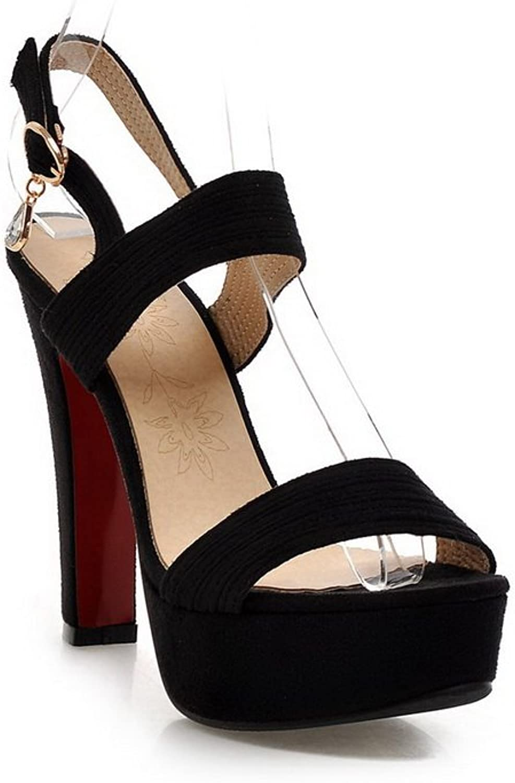 1TO9 Ladies Outdoor High-Heels Black Polyurethane Sandals - 7.5 B(M) US