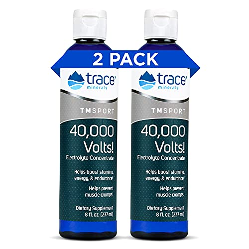 Trace Minerals – 40,000 Volts! (8oz) | Liquid Electrolyte Concentrate Drops | Relief of Dehydration, Leg & Muscle Cramps | Energy Support with Magnesium, Potassium, Sulfate, Boron & Trace Minerals