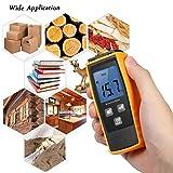 KKmoon - Medidor de humedad de pared, mini humidificador digital LCD, madera de obra Humidómetro, detector de humedad de madera, para madera, yeso, ladrillo, mortero, hormigón