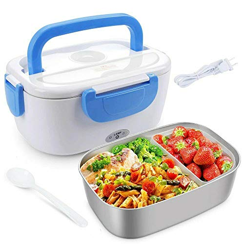 Electric Lunch Box 15L Portable Food Warmer Food Grade 304 Stainless Steel Container Lunch Heater