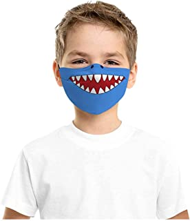 1PCS Kids Reusable Face Màsc Cartoon Print Adjustable Washable Face Bandanas Cotton Breathable Face Masks Anti-fog Outdoor Balaclavas Facial Protection