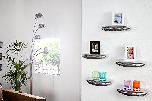 Invicta Interior Moderno Estante de Pared Tear Orgánica Diseño de Aluminio 40x 20cm