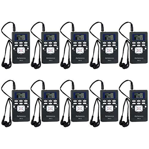 Retekess PR13 Portable Receiver, Mini FM Radio DSP with 24 Hour Clock...