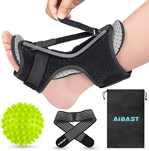 AiBast Plantar Fasciitis Night Splint 2020 New Upgraded Grey Multi Adjustable Ankle Brace Foot product image