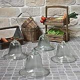 Chemin_de_campagne 4 Gartenglocken aus Glas, Durchmesser 30 cm -