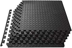 ProsourceFit Puzzle Exercise Mat, EVA Foam Interlocking Tiles, Protective Flooring for Gym Equipment and Cushion for...