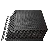 ProSource fs-1908-pzzl Puzzle Exercise Mat EVA Foam Interlocking Tiles...