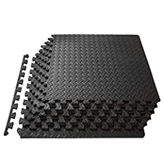 PROTECTIVE WORKOUT FLOORING - Durable, non-skid textured tiles protect floors while creating a comfortable workout space EASY ASSEMBLY – Lightweight puzzle pieces connect quickly and easily, and can be disassembled just as simply for quick storage VE...