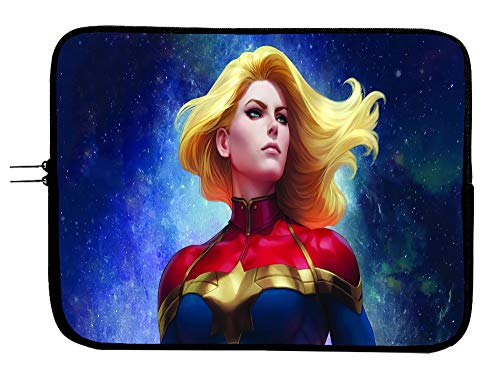 Brand3 15 Inch Captain Marvel Laptop Sleeve Bag Laptop Case Mousepad Surface MacBook Pro/MacBook Air Sleeve Case - Water Repellent Neoprene Case