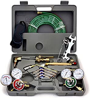 ARKSEN Harris Compatible, Gas Welding & Cutting Torch w/Hose, Professional Set with Case