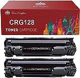 Toner Kingdom Compatible Toner Cartridge Replacement for Canon CRG128 ImageCLASS D530 MF4770n MF4890dw FAXPHONE L190 Printer (Black, 2-Pack)