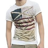 Camiseta para Hombre, Camiseta de Manga Corta con Estampado de Bandera Creativa Element Impresión...