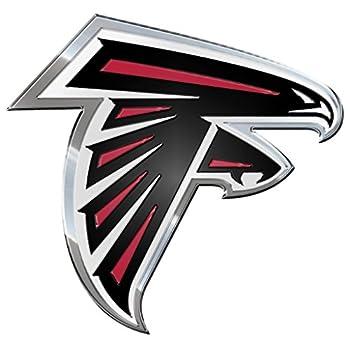FANMATS NFL Atlanta Falcons Die Cut Color Automobile Emblem Team Color 4  x 3