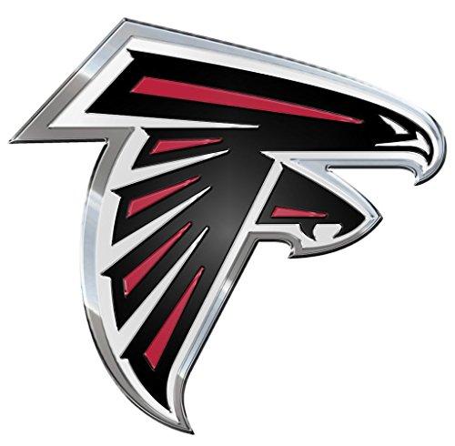 FANMATS NFL Atlanta Falcons Die Cut Color Automobile Emblem, Team Color, 4