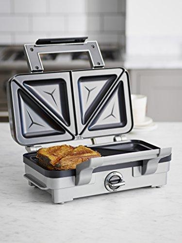 Cuisinart Sandwich Maker | Non-Stick Removable Plates | Stainless Steel | GRSM1U