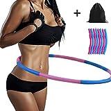 Namotu Fitness Hula Hoop Reifen mit Schaumstoff Massagenoppen, mit freien schönen Tasche, 1 kg...