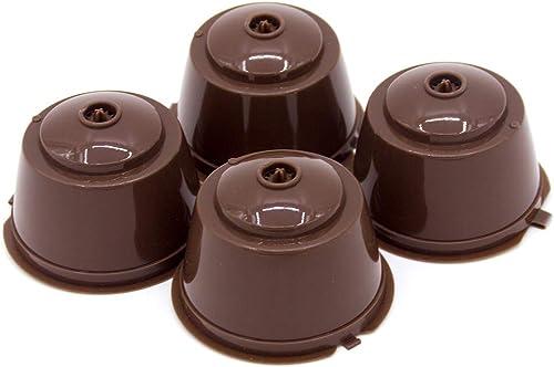Prenine Cápsula De Café, CáPsula De Plástico Recargable Reutilizable para Máquinas De Café Dolce Gusto con Cuchara (P...