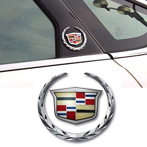 1pcs 3D for Cadillac Emblem , Metal Labeling for Escalade ATS SRX XTS CTS XT5 XLR,etc, Car Tailgate Hood Emblem