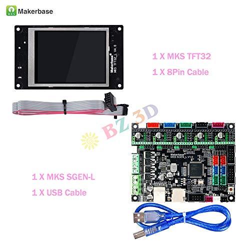 BZ 3D Controller Board Controles MKS SGen L V1.0 32 bits de placa base compatible Uart/SPI con MKS 3D Touch TFT28 / 32/35 pantalla táctil para impresora 3D.(Boars+TFT32)