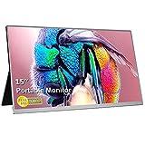 UCMDA 15 Pulgadas Monitor portátil HDMI-Full HD 1080LED Pantalla Portátil Monitor, Soporte USB Tipo IPS Screen Gaming Monitor,de Juegos para PS4, Mac,Phone, PS3, Xbox, Raspberry Pi, Laptop (Plata)