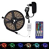 KIODS LED Tira Rgbww Rgbw Led Strip Light 12V RGB 5050 5M 10M 60Led / M 12V Led Strip Rgbw Rgbww Light Tape Impermeable IR Controller Set Completo