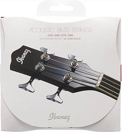 IBANEZ Saiten Set für 4 String Akustikbass - .040/.060/.075/.095 Coated 80/20 Bronze (IABS4C)