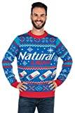 Tipsy Elves Men's Natural Light Ugly Christmas Sweater - Natty Light Xmas Sweater: XX-Large Blue