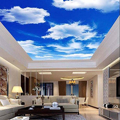 Yosot Techo De Nubes Del Cielo Azul Papel Pintado Murales De Pared Foto 3D De Rollos De Papel De Pared Decoración De Arte Papel pintados Para Techos De Salón Decoración -140Cmx100Cm