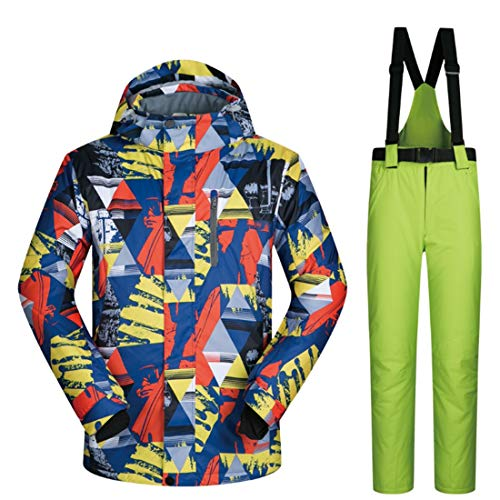 BERYLSHOP Herren Skijacke und Hosen Schneeanzug Descente Skijacke Herren (M-XXXL) (Farbe : 03, Size : XXXL)