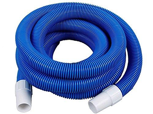 HAFIX Pool Schlauch Ø 38mm 7,5m Saugschlauch Ersatzschlauch Poolsauger 38 mm Durchmesser in blau, inklusive 2 vorgeformte Muffen