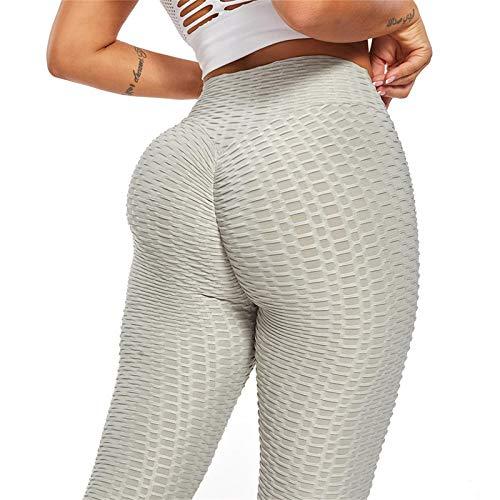 Zller2587 Mallas Pantalones Deportivos Leggings Mujer Yoga De Alta Cintura EláSticos Y Transpirables para Yoga Running Fitness Grey