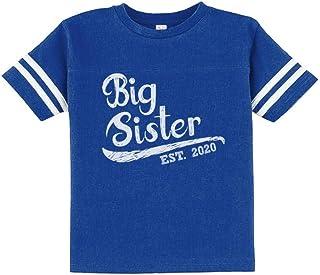 Big Sister Est 2020 - Sibling Gift Idea Toddler Jersey T-Shirt