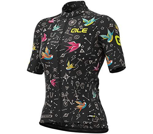 Alé Cycling Graphics PRR Versilia Kurzarm Trikot Damen Black Größe L 2021 Radtrikot kurzärmlig