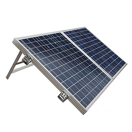 ECO-WORTHY Tragbare 100 W Poly faltbar Solar-Set mit 15 Amp-Controller für 12 V Akku-Ladegerät