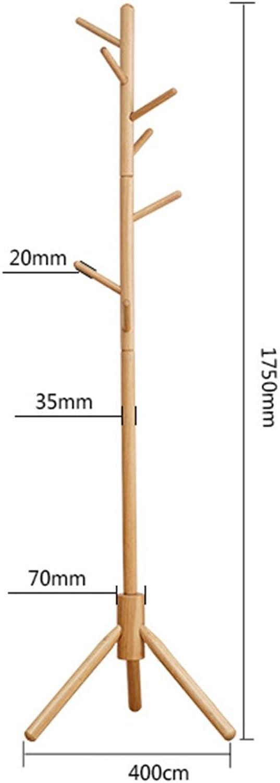 ZHBWJSH Coat Rack Hanger Floor Rack Solid Wood Home Bedroom Simple Modern 175CM (color   D)