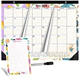 2020-2021 Magnetic Calendar for Fridge by StriveZen, 16x12 inches, Large Monthly, Paper, Tear-off, April 2020 -December 2021, Dry Erase Notepad/Grocery List and Dry Erase Marker