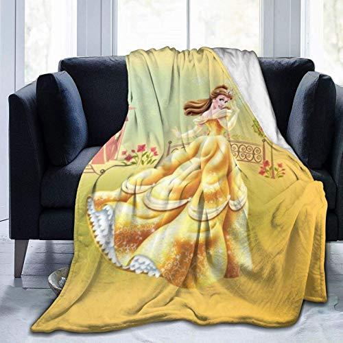 Manta Polar con Flecos  Princesa Adecuada para Todas Las Estaciones (200 x 150 cm)
