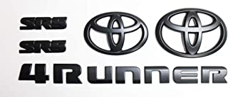 Genuine Toyota 4Runner Blackout Emblem Overlay Set PT948-89180-02. Black 5 Piece Emblem Overlay Set. 2018-2019 4Runner.